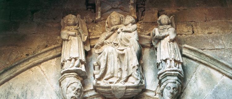 Porche de l'église de Santa Maria Conesa