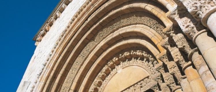 Doorway of the church of San Ramon Pla de Santa Maria