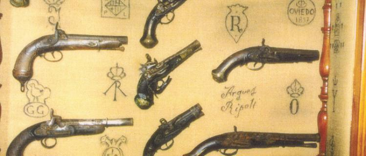 Collection of ancient weapons and tools from the field of Josep Pané at la Fuliola