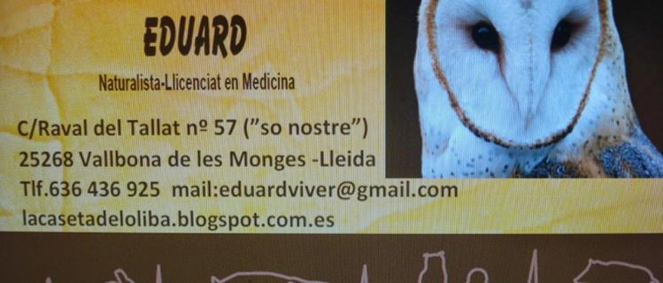 Turismo de Fauna Eduard en Vallbona de les Monges