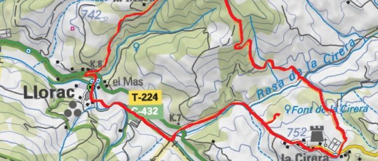 Els Plans de Llorac i la font de la Cirera - LLORAC - VALL DEL CORB