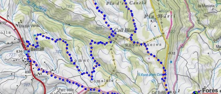 Ruta dels Comalats desde BELLTALL